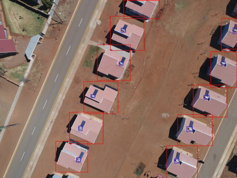 Roof detection using drones