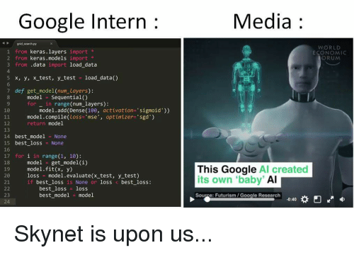 google intern in AI and media