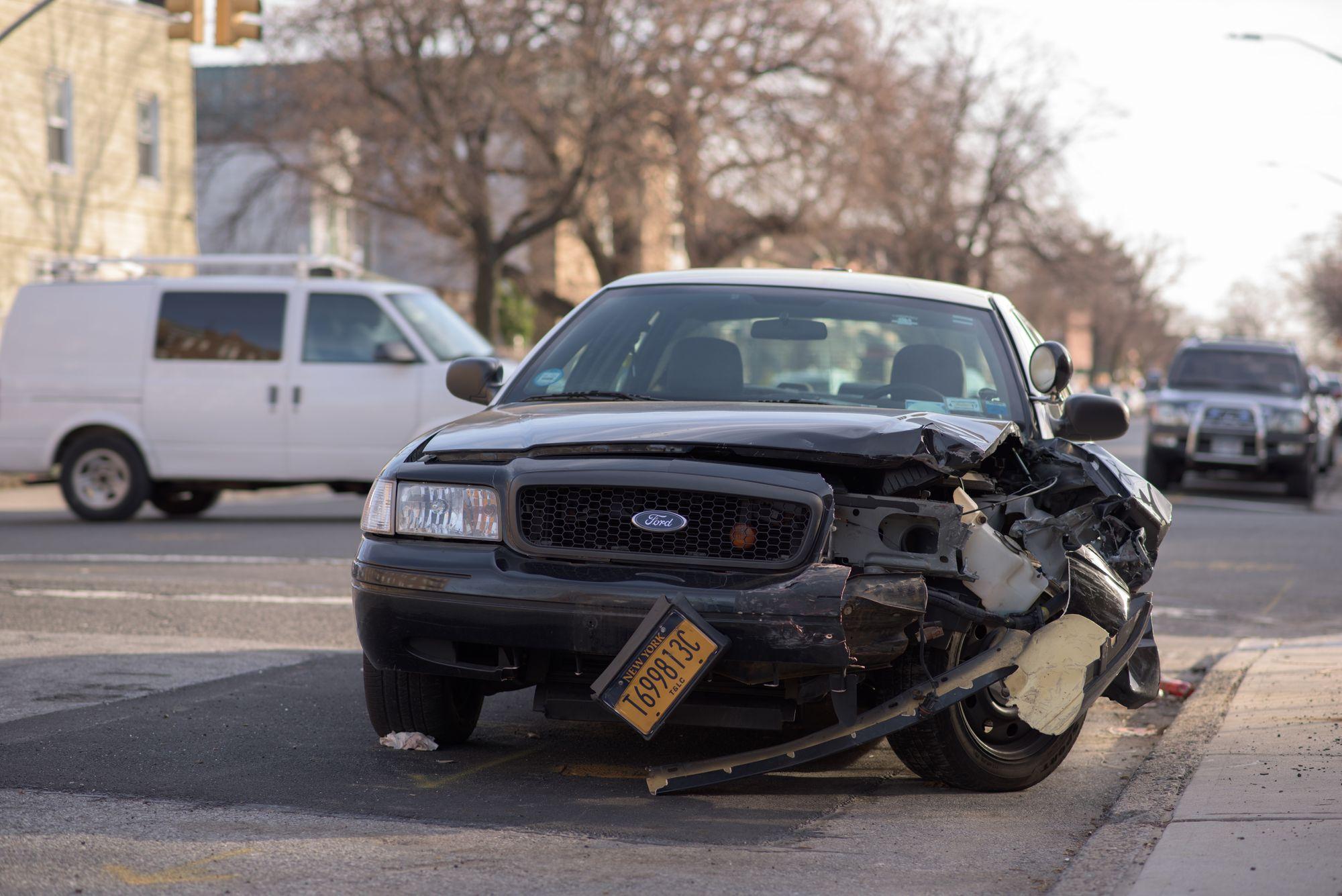 damaged car for insurance