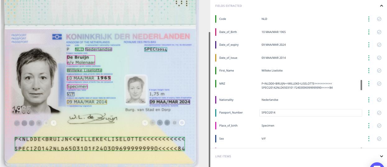 OCR on passports